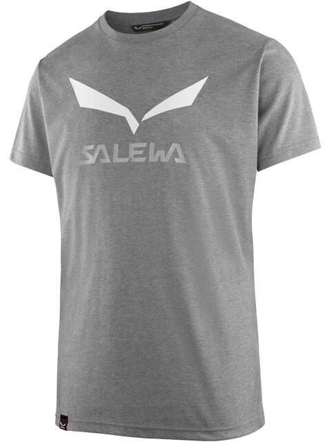 Salewa Solidlogo Dri-Release S/S Tee Men Grey Melange